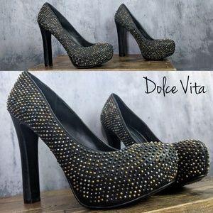 Dolce Vita Brenna Metallic Studded Platform Pumps